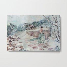 Korean Winter (Merry Christmas) Metal Print