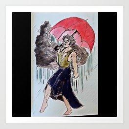 Necro-rain Art Print