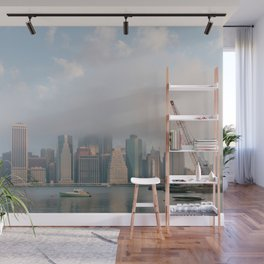 Cloudy in New York Wall Mural