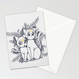 Moon Cats Stationery Cards