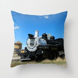 Denver & Rio Grande Steam Engine Throw Pillow
