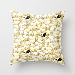 Find The Spy Pattern Throw Pillow