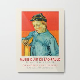 Vincent van Gogh. Exhibition poster for The São Paulo Museum of Art, 1953-1954. Metal Print