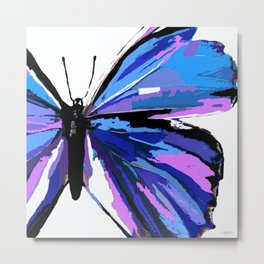 BUTTERFLY BLUE Metal Print