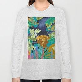 Sleeping Panther Long Sleeve T-shirt