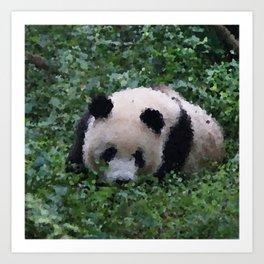 Poly Animals - Panda Art Print