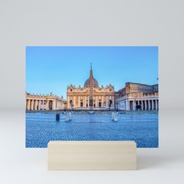St. Peter's Square in Vatican City - Rome, Italy Mini Art Print
