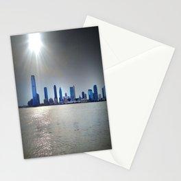 Blue Sunset Skyline - Battery Park City NYC Stationery Cards