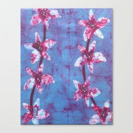 Orchid flowers in Blue and Purple Canvas Print