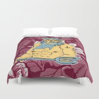 aquarius Duvet Covers featuring Aquarius by jenapaul