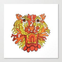 Cactus Tiger Head Canvas Print
