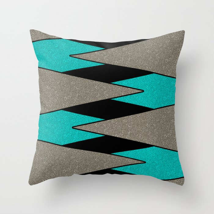 Triangulation 2 Throw Pillow
