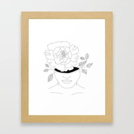 a girl who blooms from within Framed Art Print