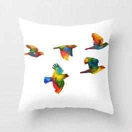 Rainbow Flight Throw Pillow
