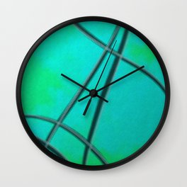 Crossing Paths Glass Distortion Details Wall Clock