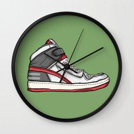 alien stomper sneaker art Wall Clock