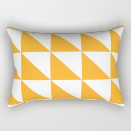 Geometric Pattern 01 Yellow Rectangular Pillow