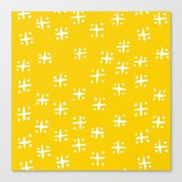Mudcloth Yellow Canvas Print