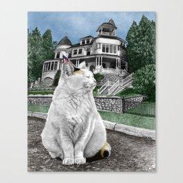 Mackinac Island Cat Canvas Print