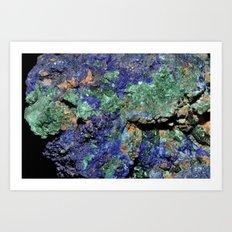 Malachite and Azurite Art Print
