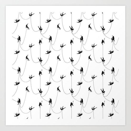 Invasion of the rock climbers Art Print