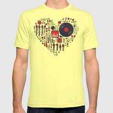 Music in every heartbeat Lemon Mens Fitted Tee MEDIUM
