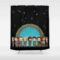 stargate Shower Curtains featuring Cast of Stargate Atlantis by Ravenno