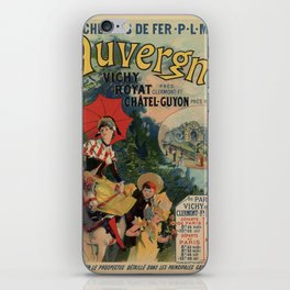 Vintage Auvergne French travel advertising iPhone Skin