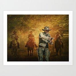 Gunfight at the OK Corral Art Print