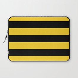 Yellow and Black Honey Bee Horizontal Cabana Tent Stripes Laptop Sleeve