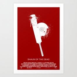 "3 Flavors Trilogy #1 - ""Shaun of the Dead"" Art Print"