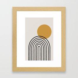 Rainbow, Gold Sun,  Framed Art Print
