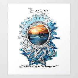 Eye of CASM Art Print