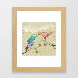 couple of beautiful love birds Framed Art Print