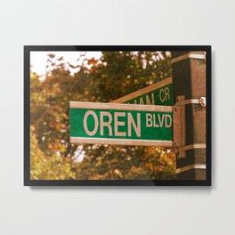 Oren Blvd Metal Print