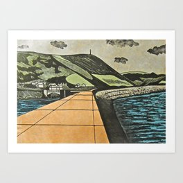 Fortified Headland, Aberystwyth Art Print