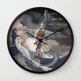 I wish I were a Wizard Wall Clock