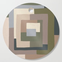 Abstract Neutrals Cutting Board