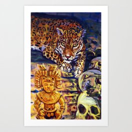 The Old Jaguar Gazed Greedily Art Print