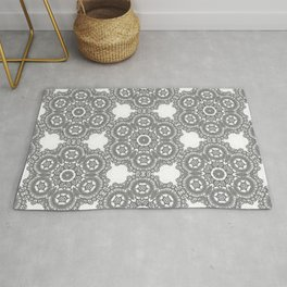 Silver Lace Rug