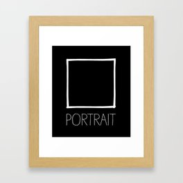 potrait Framed Art Print