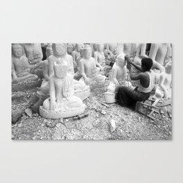 Buddha Sculptor Canvas Print