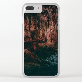Deep Moody Cave Mouth Clear iPhone Case
