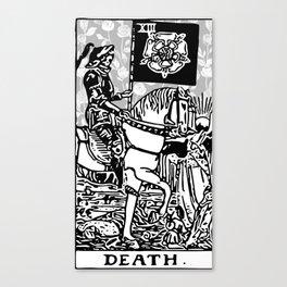 Floral Tarot Print - Death Canvas Print