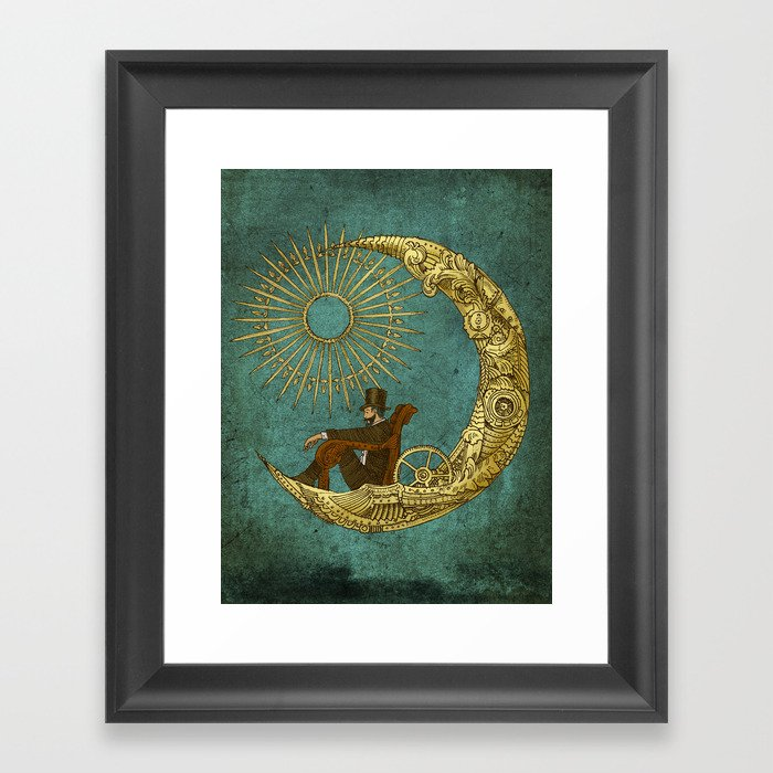 Moon Travel Framed Art Print