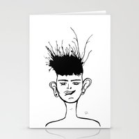 jay fleck Stationery Cards featuring Jay by Ivana Quesada