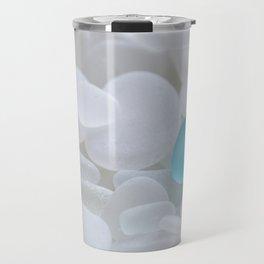 Turquoise Sea Glass Travel Mug