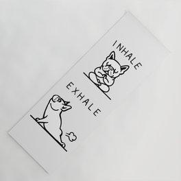 Inhale Exhale French Bulldog Yoga Mat