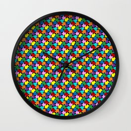 Anywhere You Want to Go - Black Wall Clock