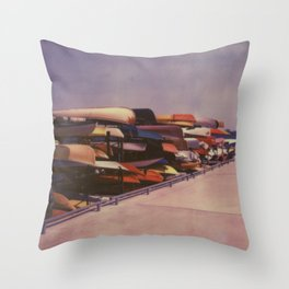Canoes at Harbourfront Throw Pillow